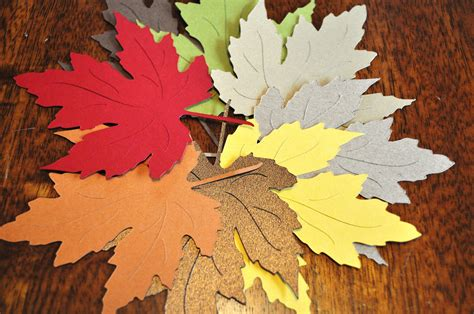 Handmade Leaf Paper - handmade wedding finds for fall weddings colorful paper