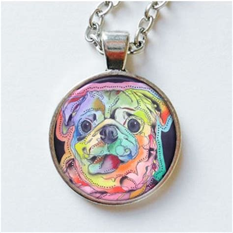 pug jewelry pug pendant pendant pug necklace from artbeatricem on