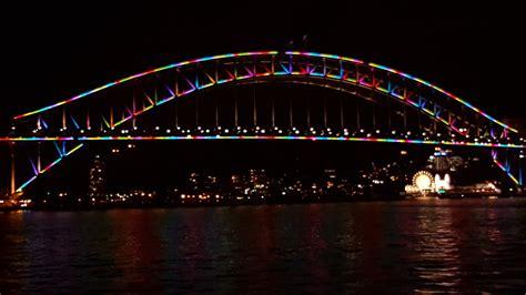 Sydney City And Suburbs Sydney Harbour Bridge Vivid Lights Sydney Suburbs