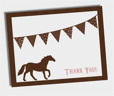 printable thank you cards horse 241 best images about horses and ponies on pinterest