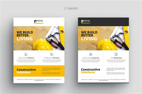 construction flyer templates free construction business flyer template 2bundles
