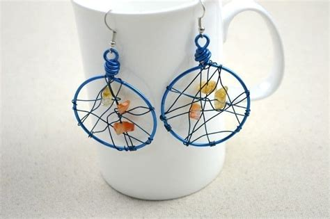 Handmade Earrings With - unique handmade jewelry diy dreamcatcher earrings in 3