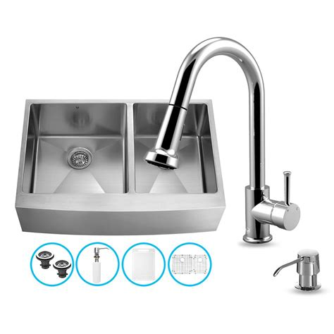 36 kitchen sink vigo vg15265 vigo all in one 36 inch farmhouse stainless