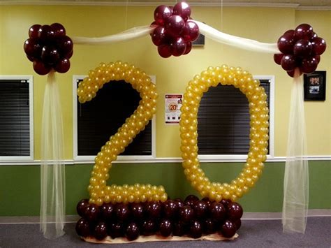 20th Anniversary   Decorations and Balloon Creations
