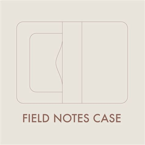 design pattern notes pdf leather field notes case digital template 8 5 x 11