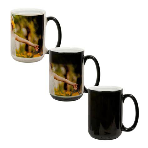 color changing mug 15 oz color changing mug black photo usa corp