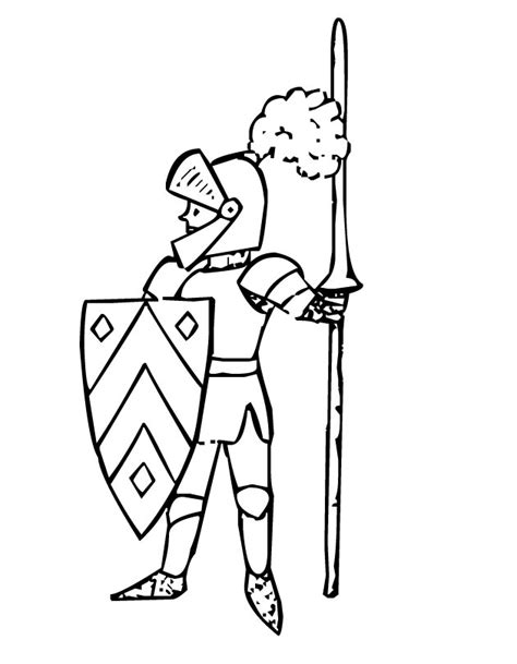 Printable Knight Coloring Page From Freshcoloring Com Knights Colouring Pages