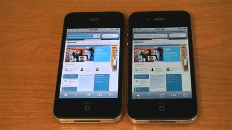iphone 4s vs iphone 4 wifi web browser speed test
