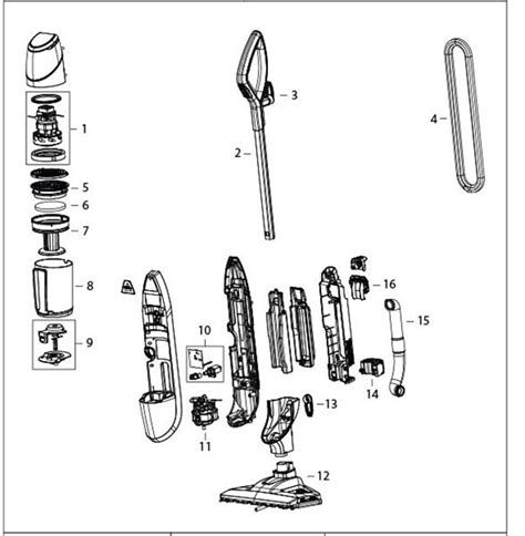 shark steam mop parts diagram symphony steam mop 1132 floor cleaner repair parts
