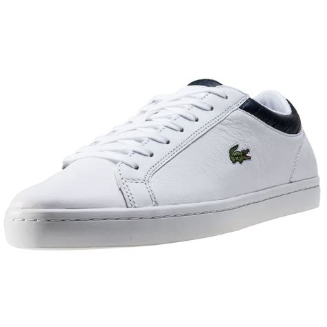 Lacoste Set 3 lacoste straightset g316 3 mens trainers in white navy