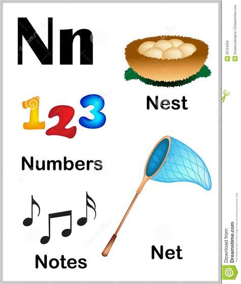 imagenes en ingles que empiecen con n im 225 genes de la letra n del alfabeto ilustraci 243 n del vector