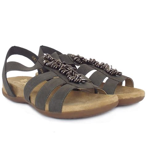 comfortable and stylish sandals rieker neopolitan women s comfortable sandals in taupe