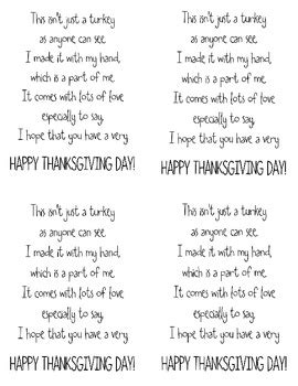 printable turkey handprint poem freebie turkey handprint poem by little stars learning tpt