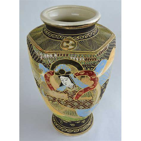 vasi satsuma early 20th century painted satsuma hexagonal vase