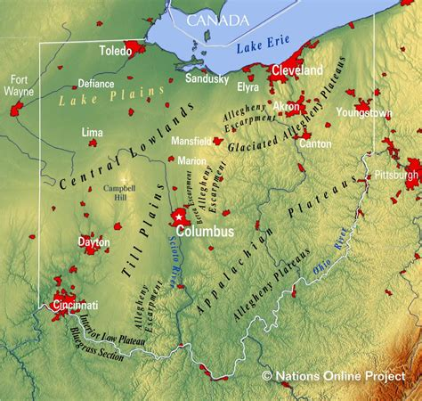 a map of ohio reference maps of ohio usa nations project