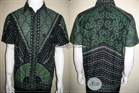 Baju Kurung Hijau Hitam busana batik pria modern dengan kombinasi warna hijau dan hitam baju batik kerja til keren