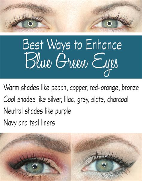 what color makes green pop best eyeshadows to enhance blue green