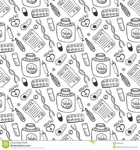 pattern background sketch hand drawn medicine seamless pattern doddle sketch