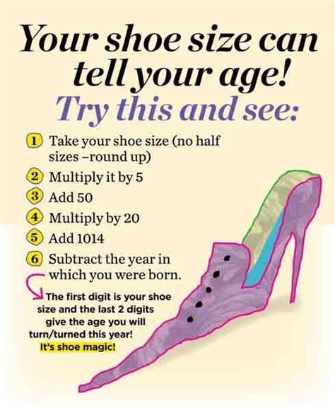shoe size by age shoes the age and on