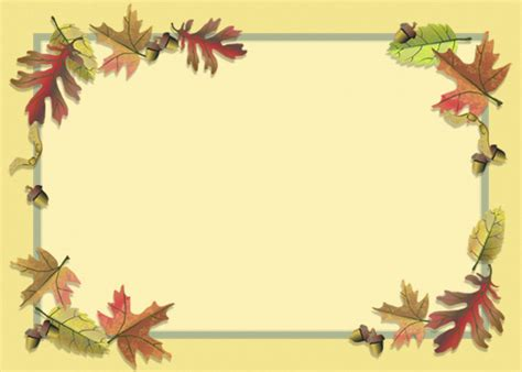 7 Best Images Of Free Printable Fall Borders Free Free Fall Border Templates
