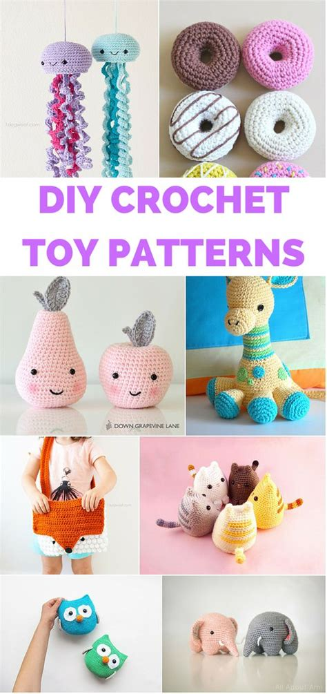 Handmade Toys Patterns - 12 crochet toys for with free patterns and
