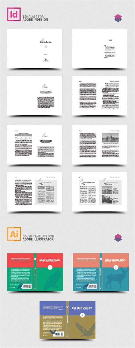 adobe indesign book templates free indesign book template stockindesign