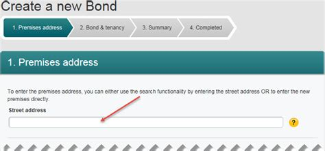 Address Search Nsw Help Detail Create New Bond