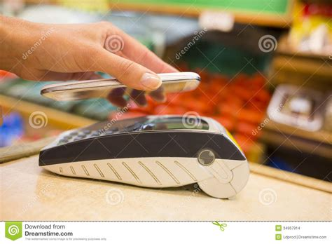 Go Shopping Pay With Your Cell Phone by Paying With Nfc Technology On Mobile Phone Shopping