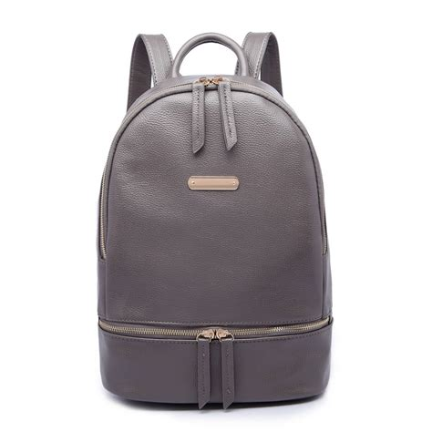 Backpack Leather Grey lf6606 miss lulu leather look backpack school bag grey
