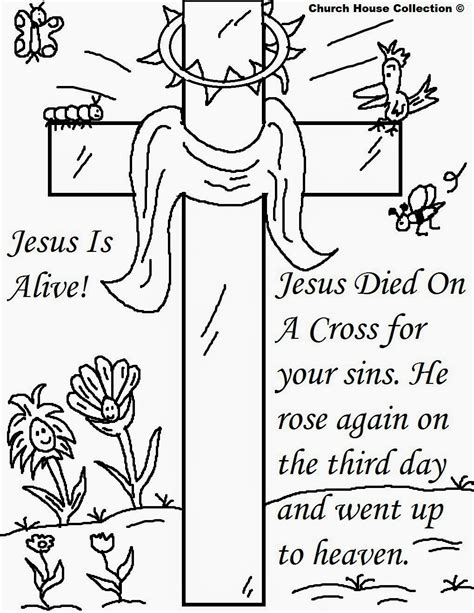 coloring page for resurrection church house collection blog easter jesus resurrection