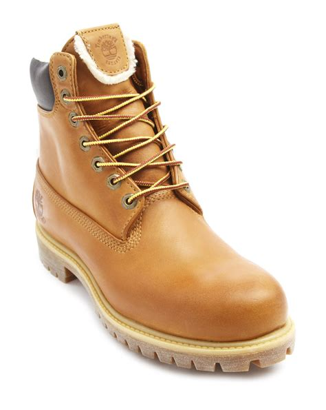 timberland boots with fur timberland heritage camel fur boots in beige for