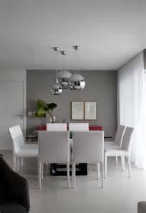 foto pintura cinza na parede da sala de jantar de