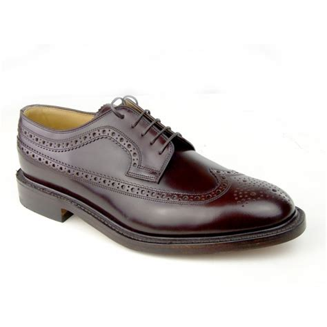loake shoes loake loake royal brogue oxblood n7 mens shoes loake