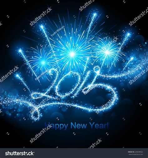 new years fireworks 2015 new years fireworks 2015 stock vector 220698562