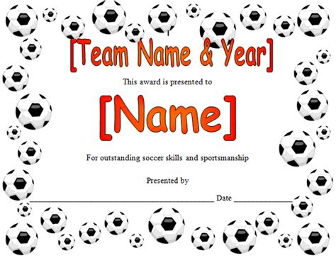 Soccer Certificate Templates For Word soccer award certificate in microsoft word format