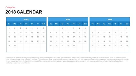 2018 calendar template for powerpoint 2010 2018 calendar powerpoint and keynote template slidebazaar