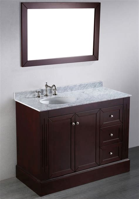 45 Inch Bathroom Vanity 45 Inch Bosconi Contemporary Single Vanity Contemporary Bathroom Vanities And Sink Consoles