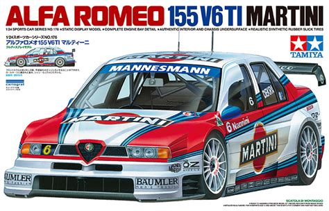 alfa romeo martini racing alfa romeo 155 v6 ti martini racing touring car model kit