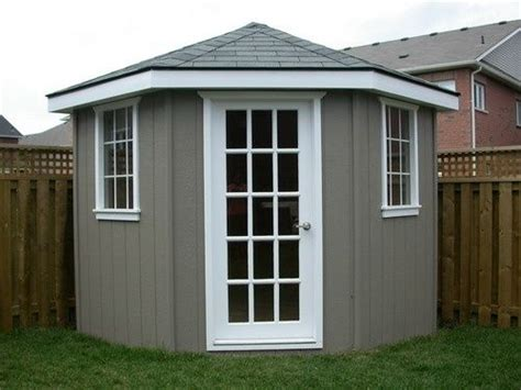 diy corner shed exchange  white trim  teal sooo