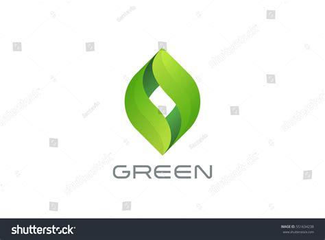 Green Eco Leaves Logo Design Vector Stock Vector 551634238 Shutterstock Green Concept Logo Vectors