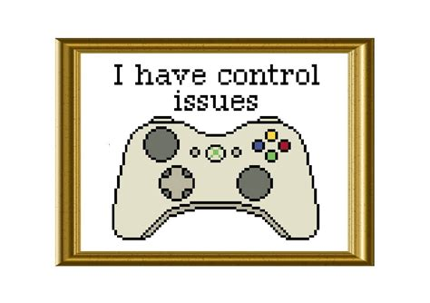 pattern games control unleashed xbox controller funny cross stitch pattern control issues