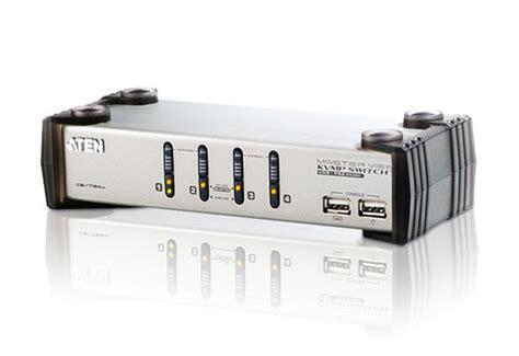 Switch Aten 4 port ps 2 usb vga audio kvmp switch cs1734a aten