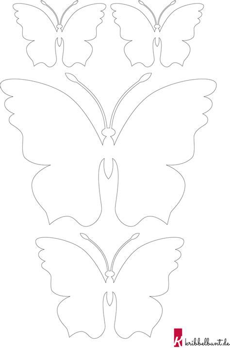 Vorlagen Schmetterling by Schmetterling Vorlage Zum Ausdrucken 187 Pdf Kribbelbunt
