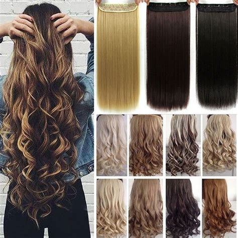 4 clip in hair extensions real thick 24 26 inch 3 4 clip in hair