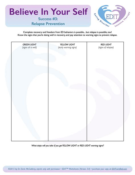 relapse prevention plan worksheet worksheets