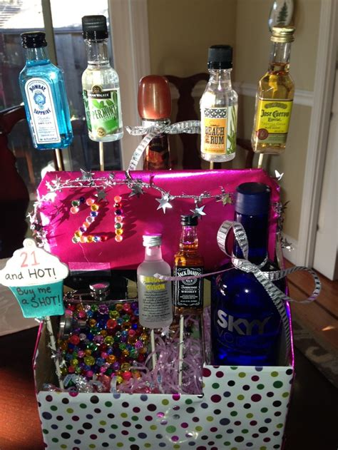 Handmade 21st Birthday Gifts - 21st birthday gift basket gifts note the