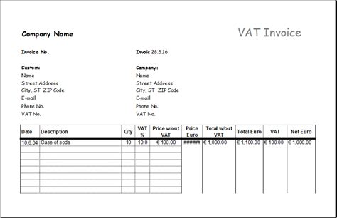 service invoice with deposit deduction excel invoice