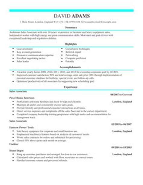 sales associate cv template sales cv examples livecareer