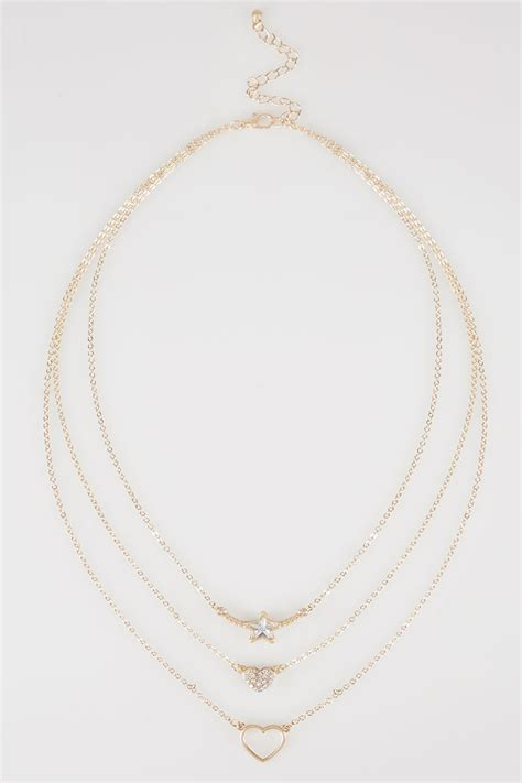 Find S Names By Address Uk Gold Layered Three Necklace With Diamante Details