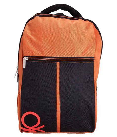 United Colors Benetton Bag Khaki united colors of benetton black orange polyester laptop bag buy united colors of benetton